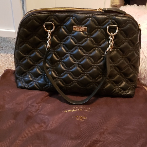 kate spade Handbags - Kate Spade quilted large leather bag